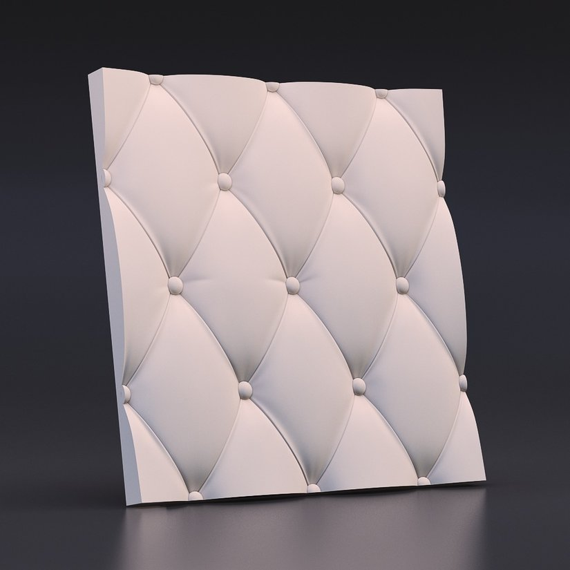 Stretched Leather 3D Wall Panels